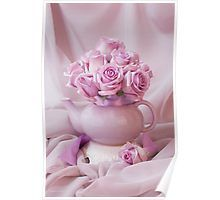 Poster  #roses #pinkroses #lavenderpinkroses #pinkrosesstillliferoses #stillliferoses #rosesandteapot #teapotart #teapot #teatime #holidaygifts #floralhomedecor #victoriamagazinestyle #romantichomesstyle #floralhappiness  #floralloveliness #sandrafoster