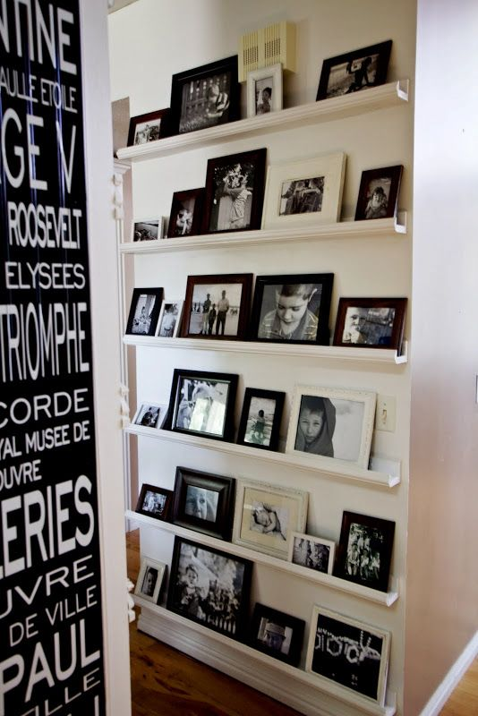 Photo wall idea -- awesome -- easy