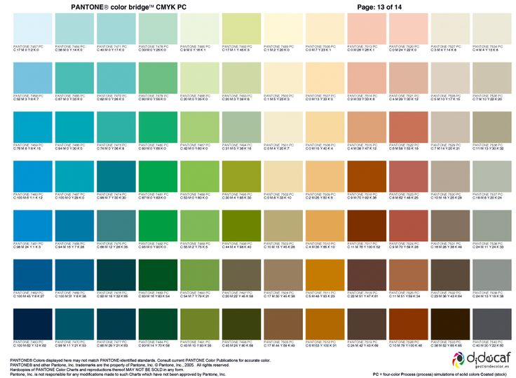 pantone_color_bridge_cmyk-13 Pantone Pinterest Pantone color - sample pantone color chart
