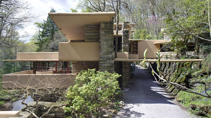 "A less popular view of ""Falling Water"" by Frank Lloyd Wright"