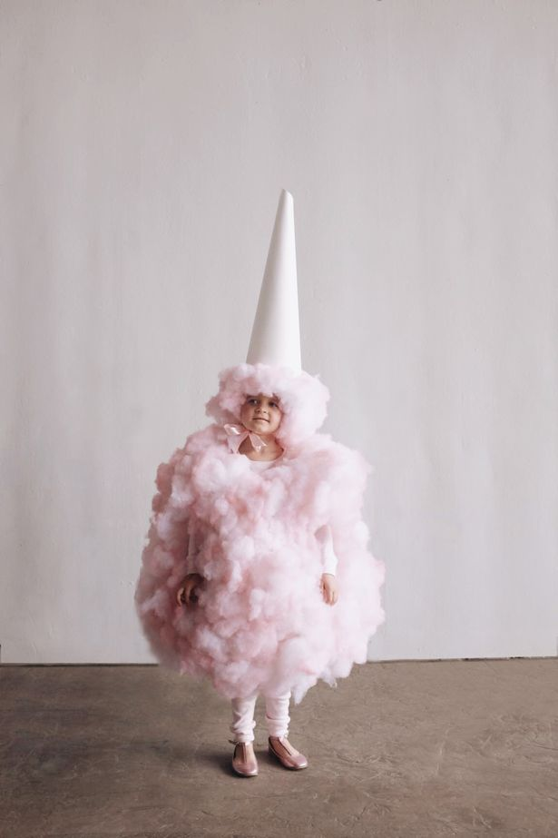 DIY Cotton Candy Halloween Costume via Pretty My Party