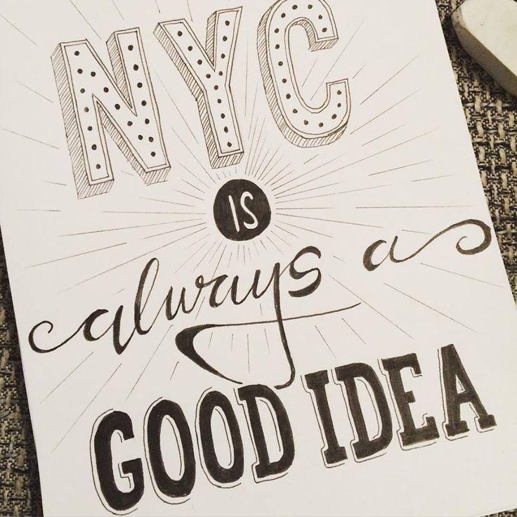 #nyc #trip #citythatneversleeps #newyork #handlettering #design #lettering #handmade #zeichnen #spruch #quote