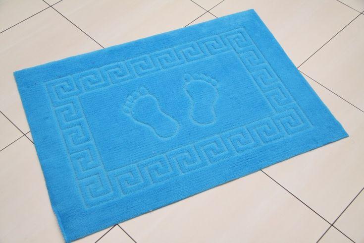 Turkusowy dekoracyjny dywanik łazienkowy
