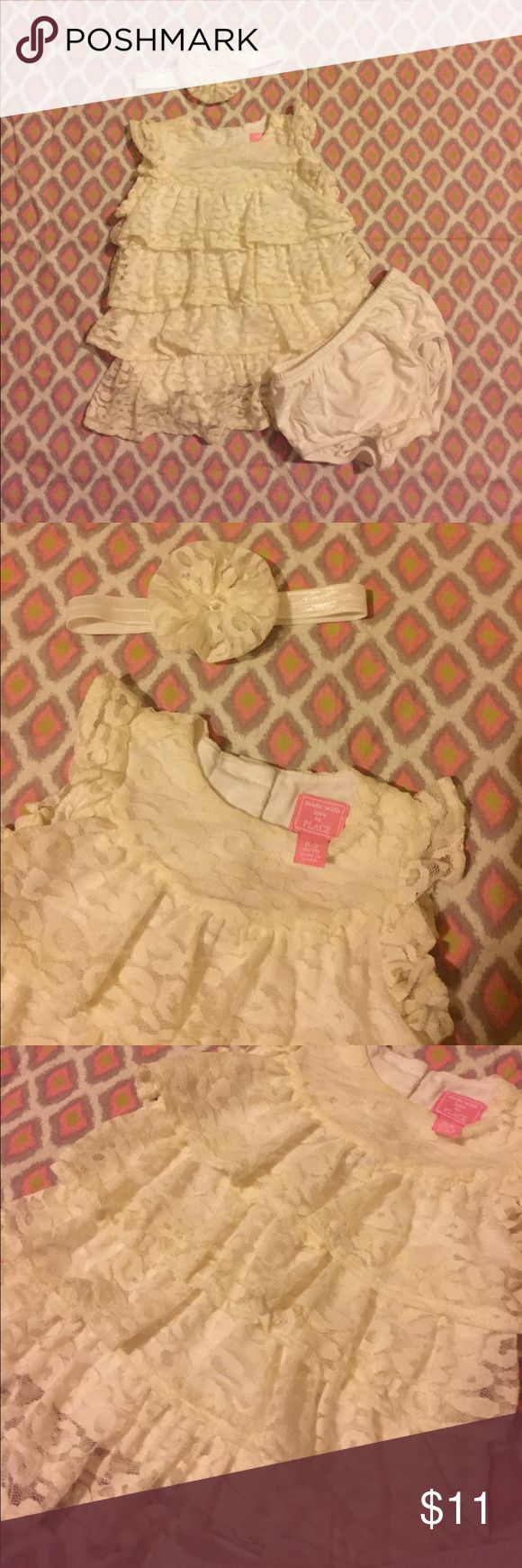🎀 Children's Place Cream Leopard Cheetah Dress 🎀 Children's Place Cream Leopard Cheetah Print Dress with diaper cover and matching headband.  EUC.  Worn only a few times, no stains or damage. The Children's Place Dresses Casual