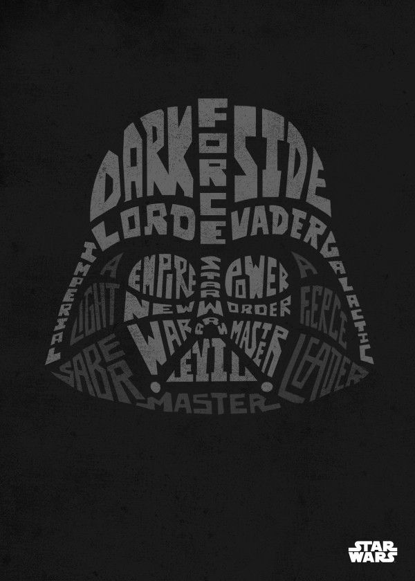 8 best Star Wars Typographic Faces Displates images on Pinterest ...