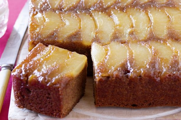 Pear and ginger upside-down cake main image