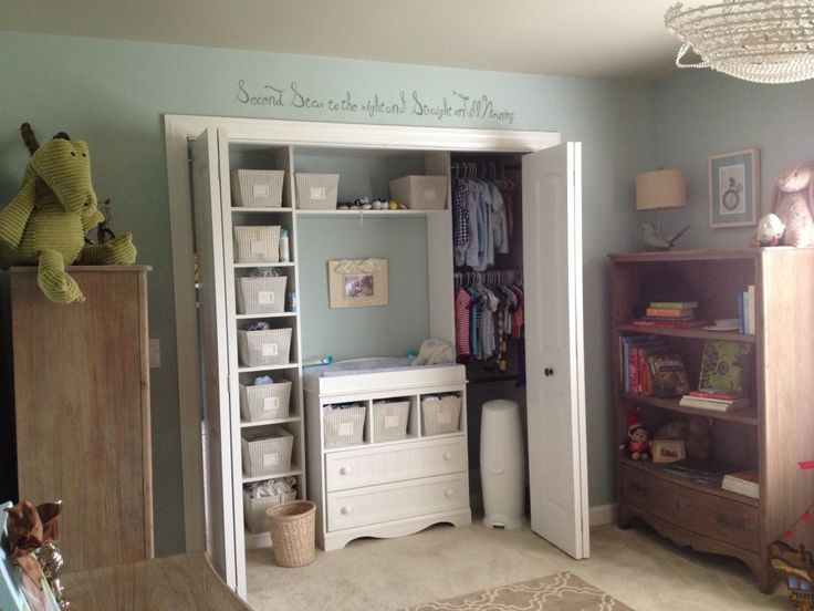 Project Nursery - Classic Storybook Nursery - closet with changing table