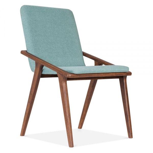 silla tapizada cult living fligth en verde azulado sillas de comedor