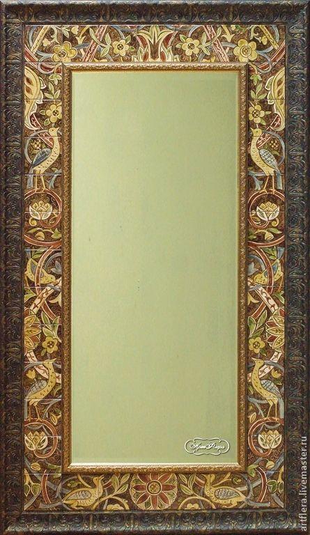 """Зеркало """" Морисс"""" - коричневый,зеркало,зеркало настенное,зеркало ручной работы"""