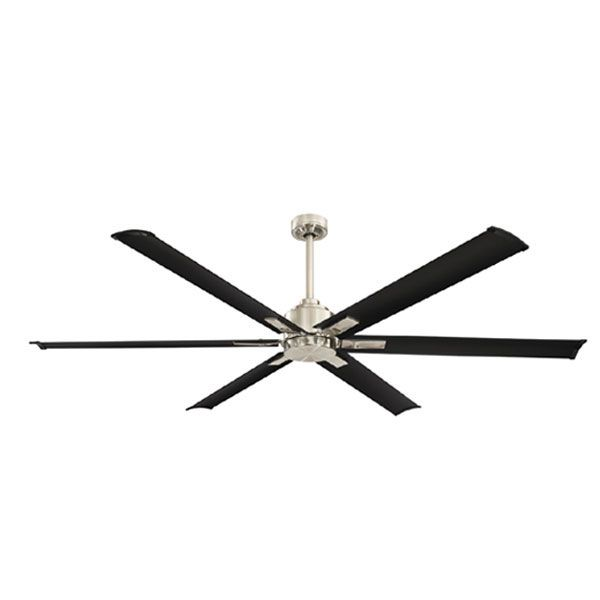 Rhino 6 Blade Large Dc Ceiling Fan By Mercator With Remote Black