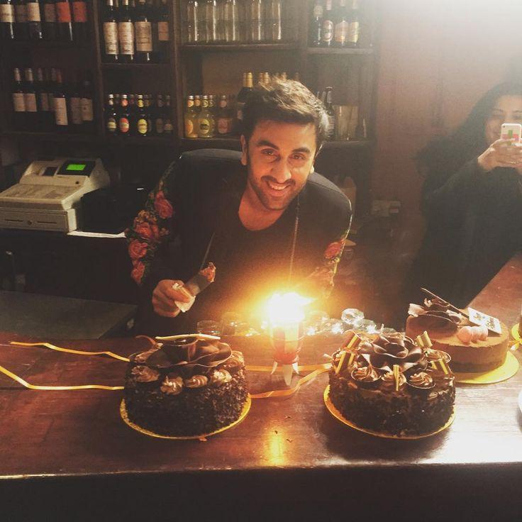 Ranbir Kapoor celebrates 33rd birthday on 'Ae Dil Hai Mushkil' sets. #AeDilHaiMushkil #Bollywood #Fashion #Style #Handsome #Instagram