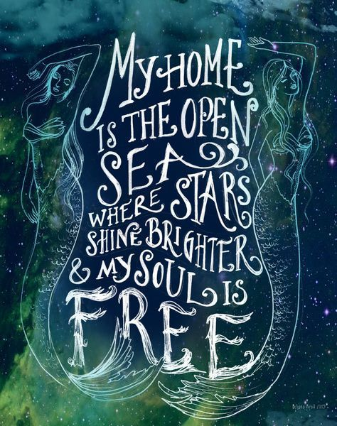 My Home is the Open Sea Art Print