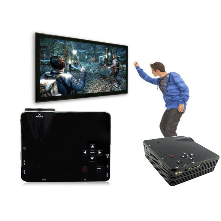 Домашний кинотеатр мультимедиа из светодиодов жк-проектор HD 1080 P пк av-тв VGA USB