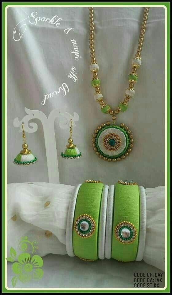 Lovely color# silk #thread#jewellary
