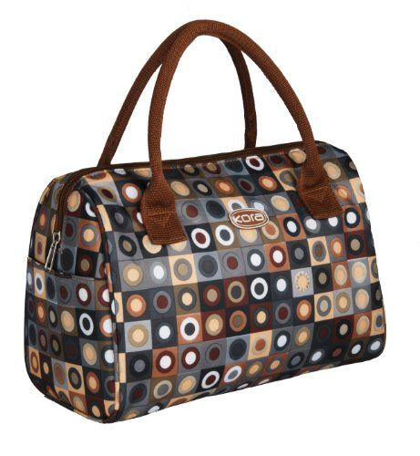 kora k7 100 insulated fashion lunch tote brown read more at. Black Bedroom Furniture Sets. Home Design Ideas