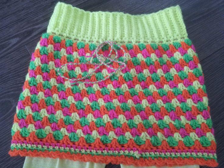 rokje haken van granny stripes - crochet skirt