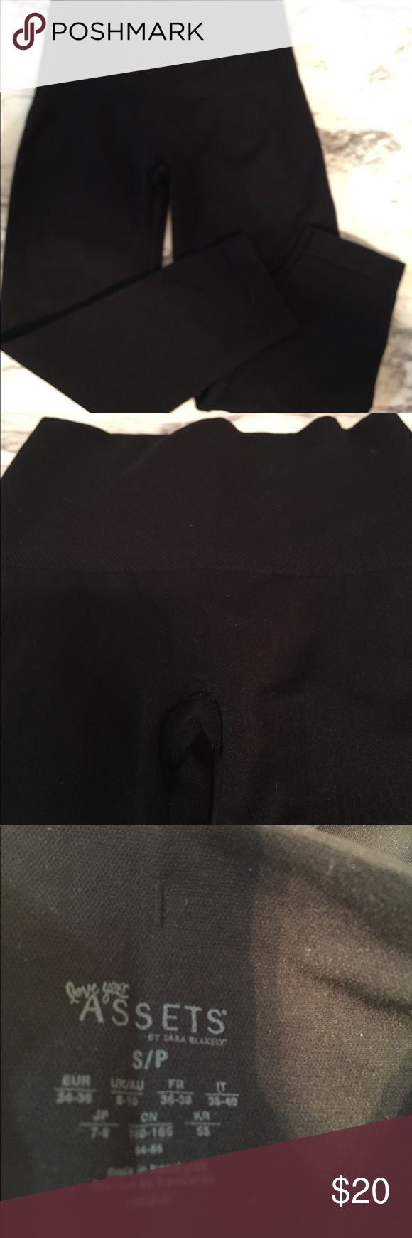 Black Love Your Assets spanx  knee length Length is 25 inches. Size is S/P . Assets By Spanx Intimates & Sleepwear Shapewear
