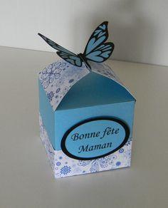 Je sais que j'ai un peu d'avance (la fête des mères est le 31 mai !) mais les vacances scolaires approchent à grands pas et je sais qu'il va falloir occuper les enfants pendant cette quinzaine... Alors voici une idée de petite boîte cadeau facile à réaliser...
