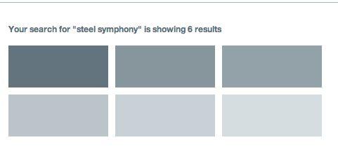 Colours Dulux Steel Symphony 6, 5, 4 etc. (left to right)