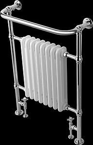 Dual Fuel Designer Traditional Heated Towel Rail Radiator With Full Kit £204