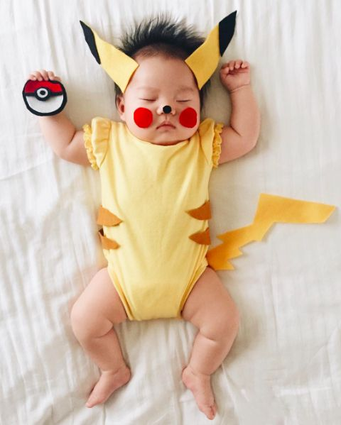 How To Dress Up Like Pokémon Go This Halloween #refinery29  http://www.refinery29.com/2016/09/123718/pokemon-go-halloween-costumes#slide-5  Pokémon Trainer & PikachuWhether you've got a mini me or a well-trained but tiny pooch, you can really score cute points by dressing up as a Pokémon trainer yourself and dressing your child or fur child up as Pikachu (or another Pokémon). If you don't win the neighbor...