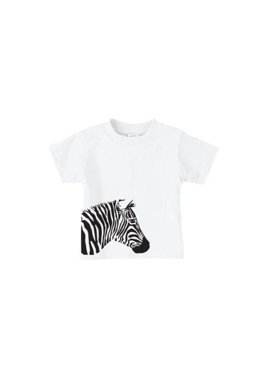 customised baby zebra t-shirt onesie white
