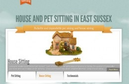 A showcase site for a lady who offers house and pet sitting services in East Sussex
