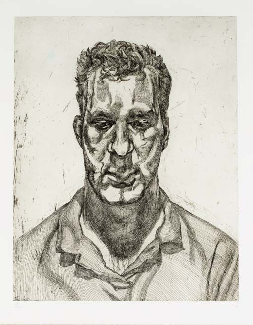 Lucian Freud (British, b. 1922)Kai, 1991-92. Etching,546 x 696mm.