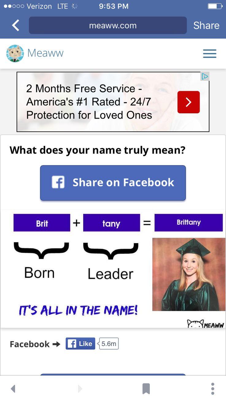 nametests facebook