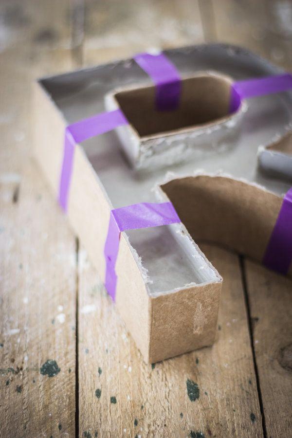 DIY concrete letter   Buchstaben aus Beton by http://titatoni.blogspot.de/ #selbermachen #brigittekreativ
