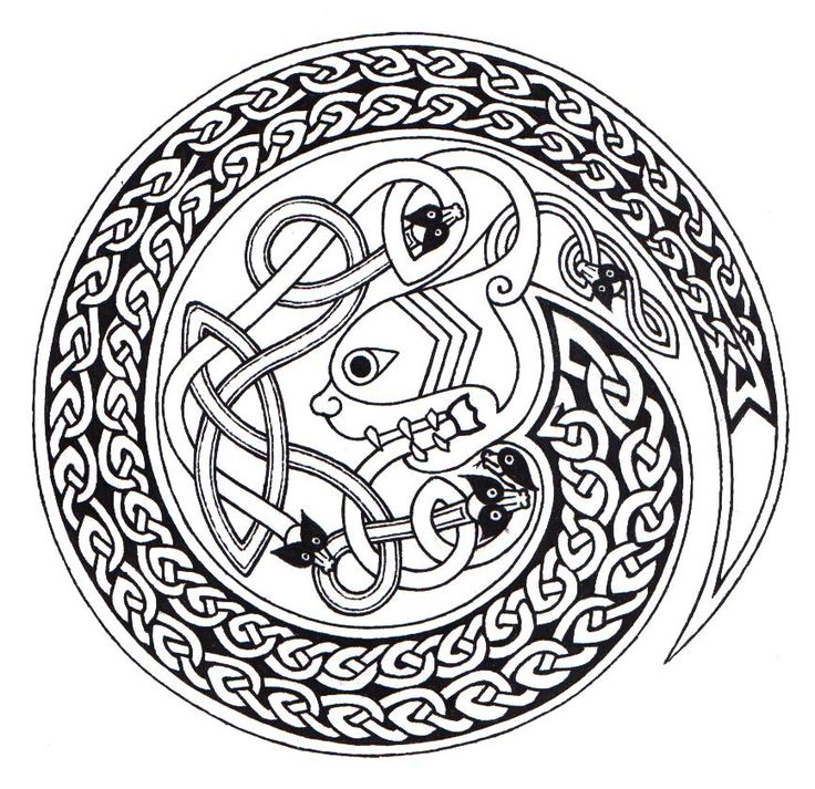 94 best Celtic Coloring Pages for Adults images on