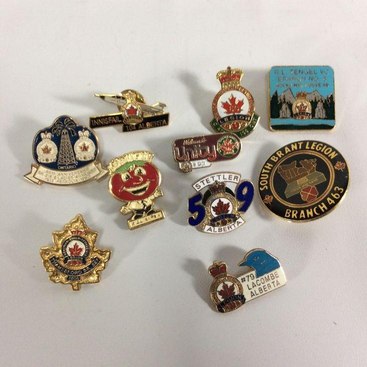 Legion Pins Regional Canadian Lot 13- Set of 10 Pins Leamington Unity Innisfail
