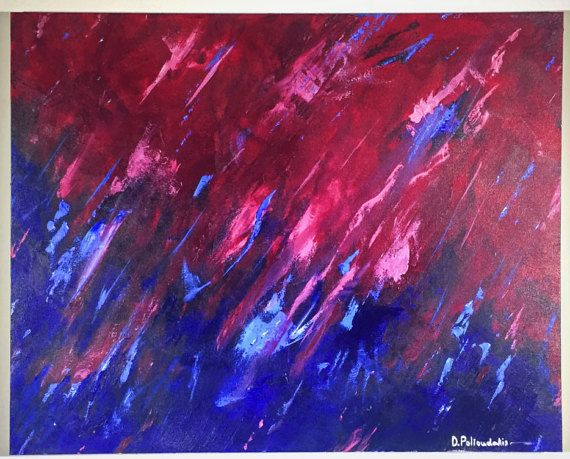 "Abstract original painting by Damon Polioudakis - 24"" x 30"""