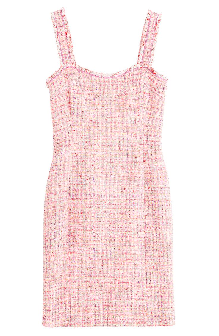 BOUTIQUE MOSCHINO Woven Boucle Sheath Dress. #boutiquemoschino #cloth #cocktail & party