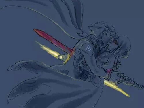 Female Robin and Chrom | Ouch my heart... and theirs...