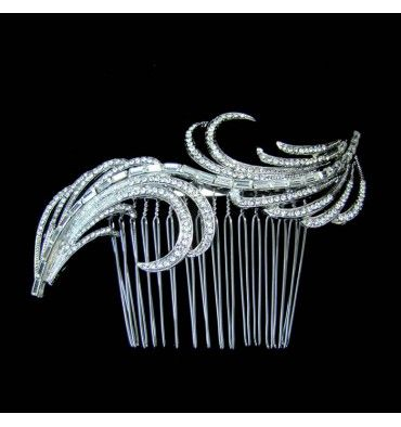 C48341 - Wedding Hair Comb - Jewellery Express- very popular hair comb in vintage style.