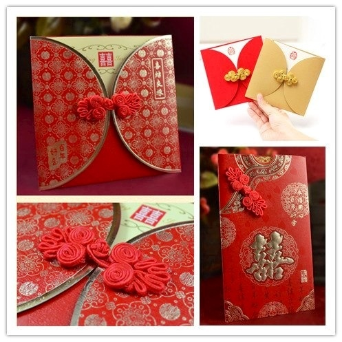 Oriental Shanghai Chinese Asian  Oriental Wedding Invitations