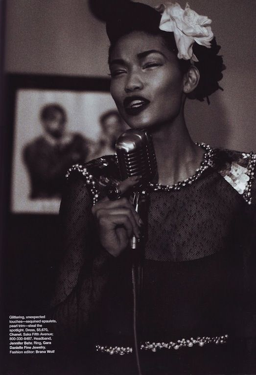 """""""Fashion and All That Jazz"""": Chanel Iman and Arlenis Sosa by Peter Lindbergh for US Harper's Bazaar September 2009"""