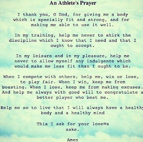 Athletes prayer