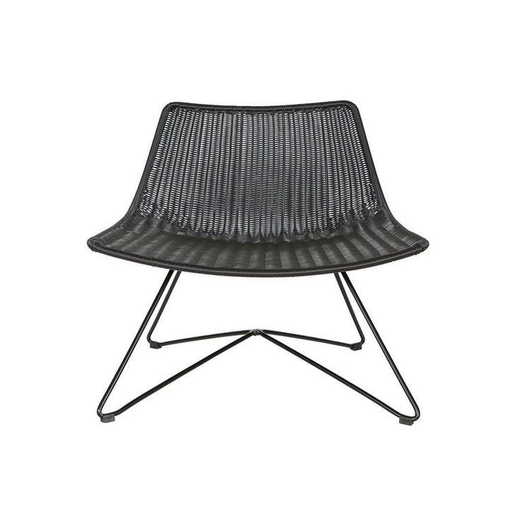 Woood fauteuil Otis, Zwart