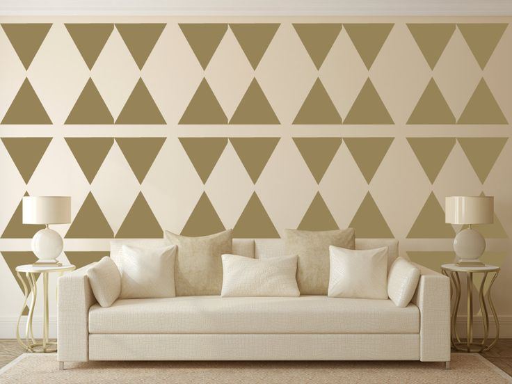 New to westlondonlaser on Etsy: Triangle Wall Stencil Wall Art Stencil  in reusable Mylar wall art small to large stencils up to 19.5 x 27.5 inches. (12.99 GBP)