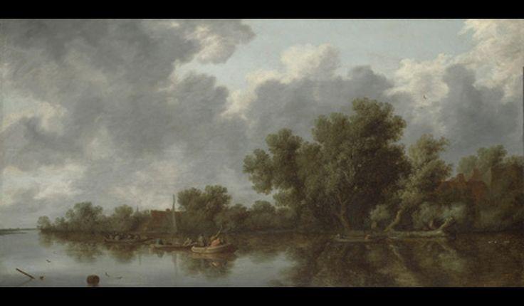 Salomon van Ruysdael's River Scene (1632).