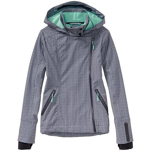 Printed Sun Valley Ski Jacket - The wind- and water-resistant hooded softshell jacket thats the perfect weight for ski-day layering.