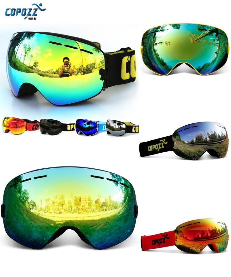 [Visit to Buy] COPOZZ brand professional ski goggles double layers lens anti-fog UV400 big ski glasses skiing snowboard men women snow goggles #Advertisement