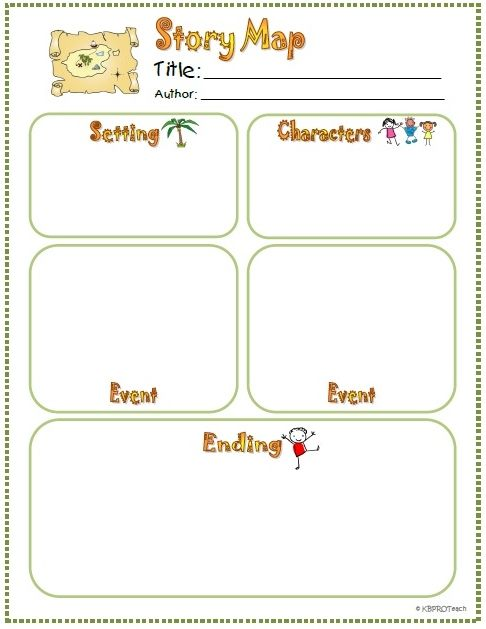 Character Setting Worksheets For Kindergarten : Organizers story elements and events on pinterest