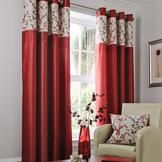 Red Woodland Sprig Curtain Collection  #pinittowinit #dunelm