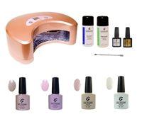 Ultimate home starter kit for LED gel polish. www.gelpolish.co.nz french manicure