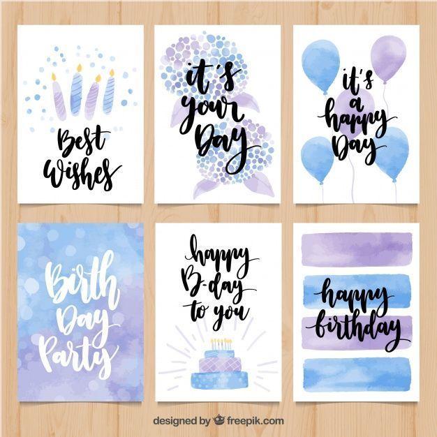 Aquarell Geburtstagskarte Paket Aquarell Geburtstagskarte Paket