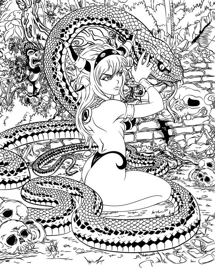 Snake Priestess By Go Kun Deviantart Com On Deviantart