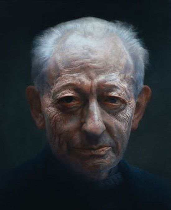 Paul Emsley, winner of the 2007 BP portrait prize, painted the below portrait with just two colours: Mars violet and blue black, plus an occasional touch of white.